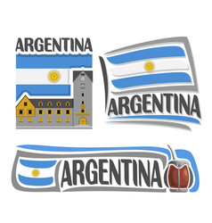 logo for argentina vector image vector image