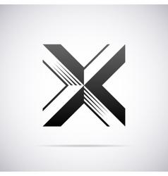 logo for letter X Design template vector image