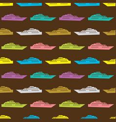 Ship seamless pattern vector