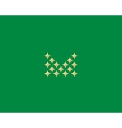 Stars letter m logotype luxury abc icon vector
