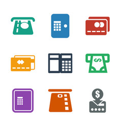 9 atm icons vector
