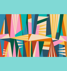 Abstract modern poster with colorful geometric vector