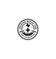 Adventure medical team vintage logo vector