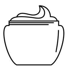 Aloe body cream icon outline style vector
