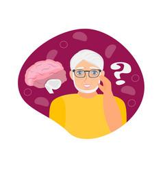 Alzheimer old man neurology health care vector