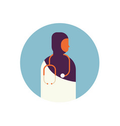 arab woman medical doctor stethoscope healthcare vector image