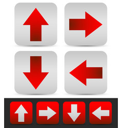arrows in different directions colored red vector image