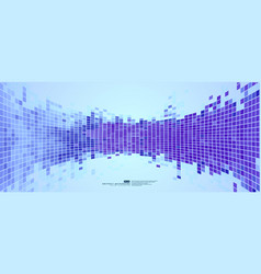 blue abstract background mosaic pixels vector image