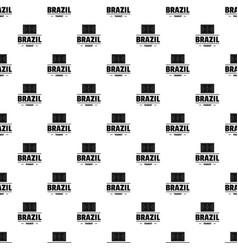 Brazil tourist pattern seamless vector