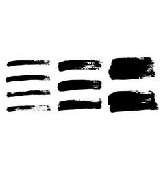 brush strokes set isolated white background vector image