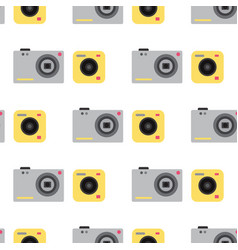 camera photo studio flat optic lenses types vector image