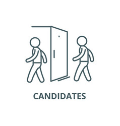 candidates for vacancy line icon vector image
