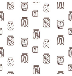 canned food icon seamless pattern vector image