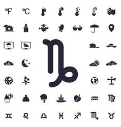 Capricorn icon vector