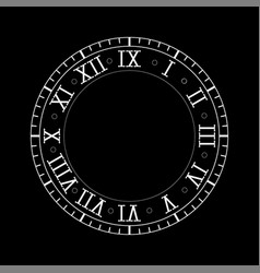 clock with roman numerals on vector image