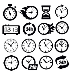 Clocks icon vector