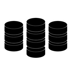 coins the black color icon vector image