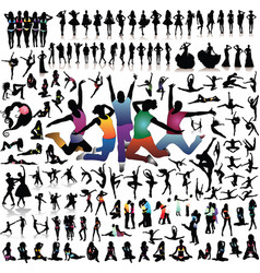Collection silhouettes vector