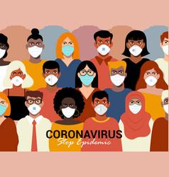 Concept coronavirus quarantine 3 vector
