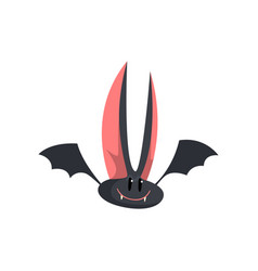 Cute funny cartoon halloween bat character with vector