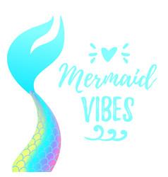 Cute mermaid tail vector