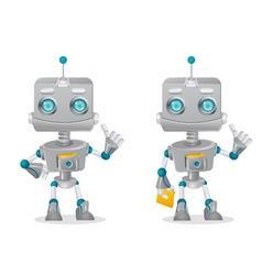 Cute robots vector