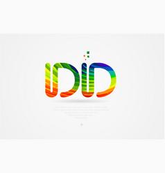 Dd d d rainbow colored alphabet letter logo vector