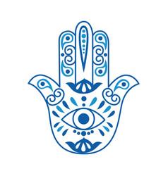 Fatima hand or hamsa in shape human hand flat vector