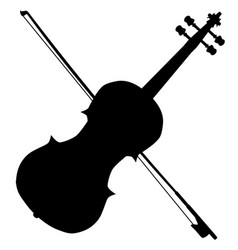 fiddle silhouette vector image