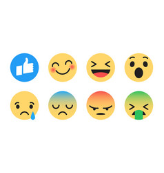 Flat design modern emoticons vector