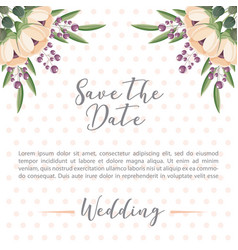 floral flowers botanical decoration dots wedding vector image