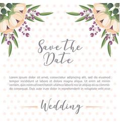 Floral flowers botanical decoration dots wedding vector