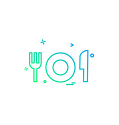food icon design vector image