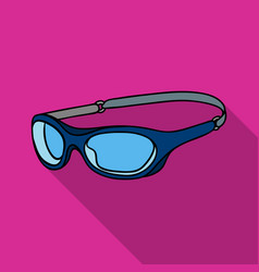 Glasses for swimming icon in flate style isolated vector