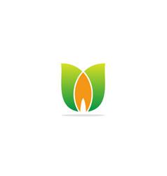 Green leaf flower beauty logo vector
