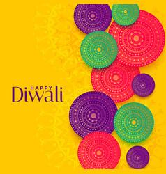 happy diwali festival decorative card design vector image