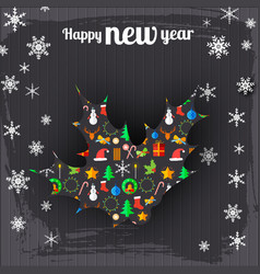 happy new year greeting background vector image