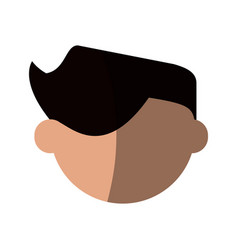 Head of faceless man icon image vector