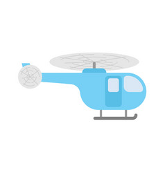 Helicopter cartoon isolated chopper flying vector