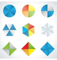 Hexagons and circles vector