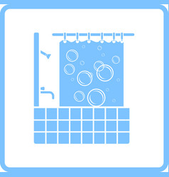 hotel bathroom icon vector image
