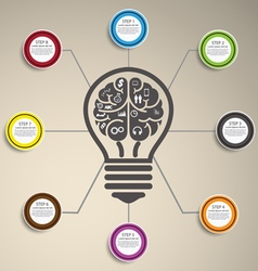 Idea Infographics vector image