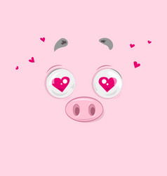 In love piggy vector