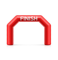 inflatable finish line arch red inflatable vector image
