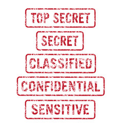 information security secret stamps vector image