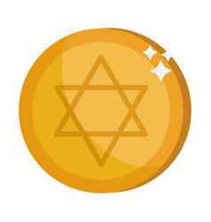 israel gold coin vector image