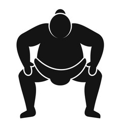Japanese sumo icon simple style vector