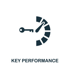 Key performance icon symbol creative sign vector