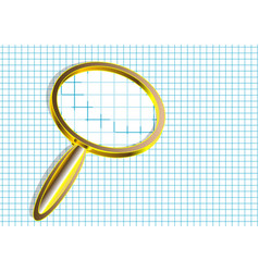 Magnifier on checkered paper vector