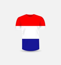 mens t-shirt icon and croatia flag vector image